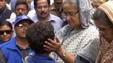 Bangladesh PM visits Rohingya refugee camp
