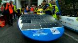 Solar cars race into Australian Outback