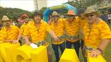 Fans don fancy dress for Ashes opener