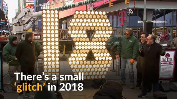 Times Square New Year's Eve countdown has a 'glitchy' start