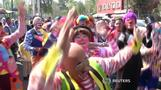 Clowns go on pilgrimage in Mexico