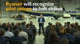 Ryanair to recognize pilot unions in historic shifts