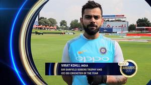 Kohli named ICC World Cricketer of the Year, Smith top test cricketer