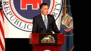 Romney speaks on Senate run, school safety
