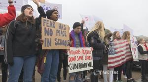 Students protest as White House grapples with background checks