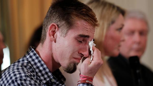 VERBATIM: Young shooting survivor asks Trump for change