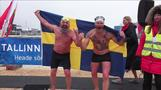 Winter swimmers compete in Estonian sub zero water