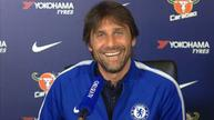 Conte laughs off wife's mid-news conference 'phone call