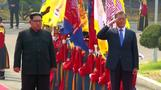 Korean leaders kick off summit with a handshake at the border