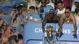 Manchester City show off Premier League trophy in victory parade