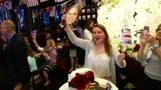 Expat Brits in NY cheer for the royal couple at viewing party