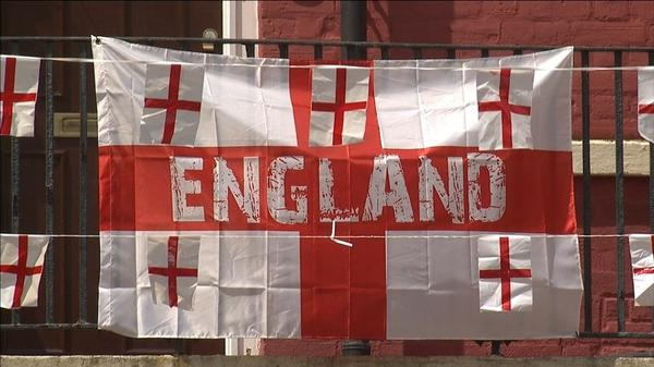 World Cup: London block of flats flies 300 flags for England