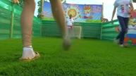 Wearing bast shoes, fans test their skills at Mordovian soccer