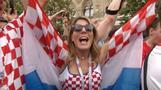 Party starts early for Croatia fans in Moscow's Red Square