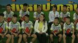 Thai boys make first public appearance since cave rescue