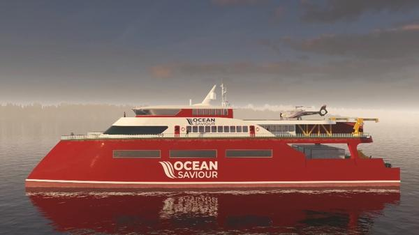 Ocean clean-up ship fuelled by plastic pollution