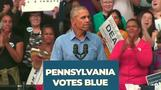 Obama back on the campaign trail in Pennsylvania