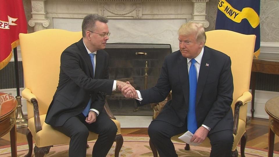 "Pastor's release ""tremendous"" step in Turkey-U.S. relations: Trump"