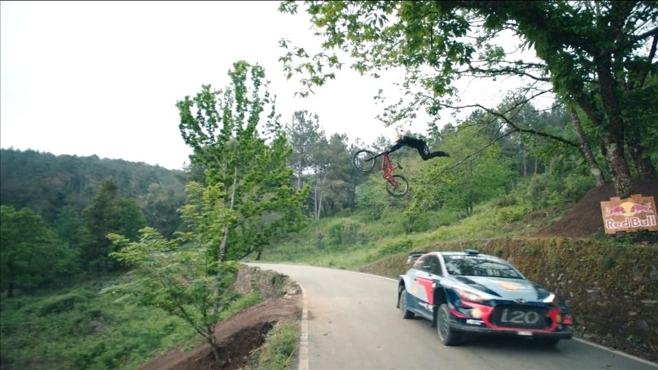 The most unusual race on earth? Rally car v mountain bike