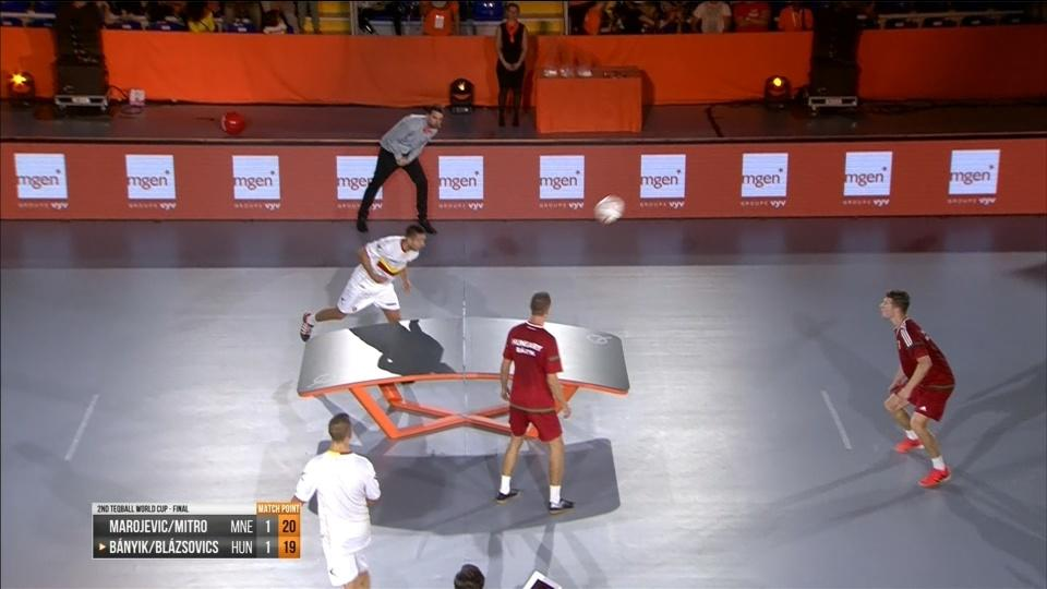 Table tennis meets football in Teqball World Cup