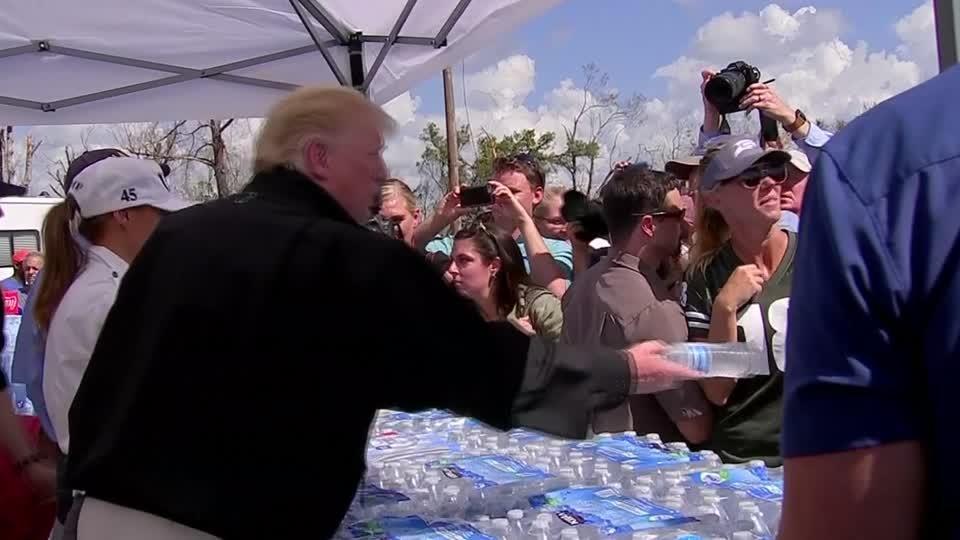 Michael 'like a tornado': Trump in Florida