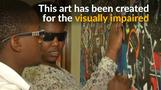 The Kenyan artist painting for the blind