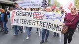 Tausende gehen für bezahlbare Mieten auf die Straße