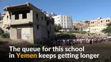 Teacher converts his home in Yemen to a free school