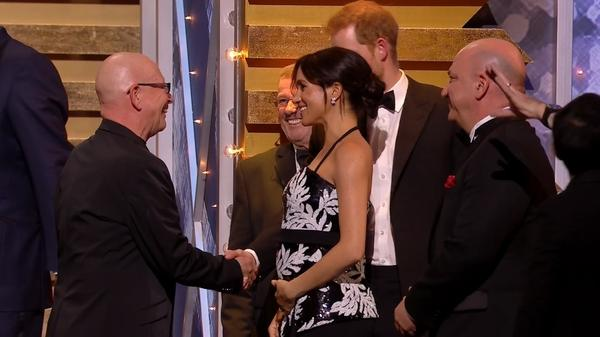 Britain's Prince Harry and Meghan guests of honour at Royal Variety show