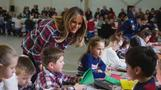 Melania prepares gifts for kids in need