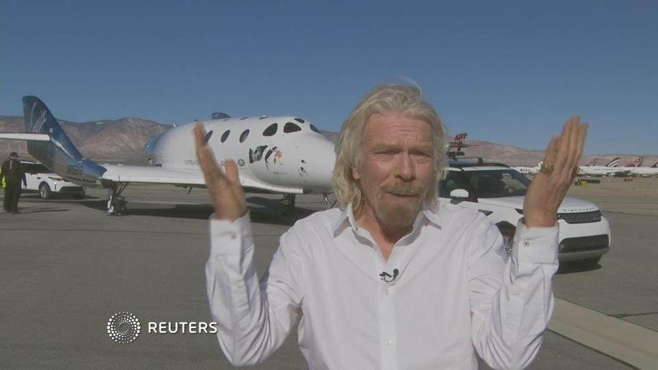 """We've been to space!"": Branson on Virgin flight"