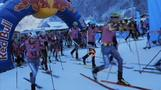 Athletes battle through snow and air in Rise & Fall relay race
