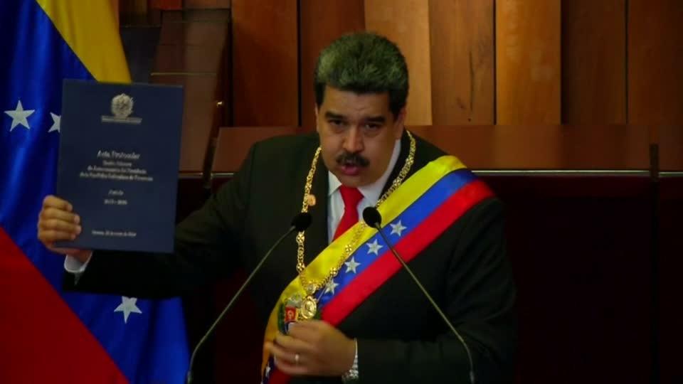Defying critics, Venezuela's Maduro starts new term