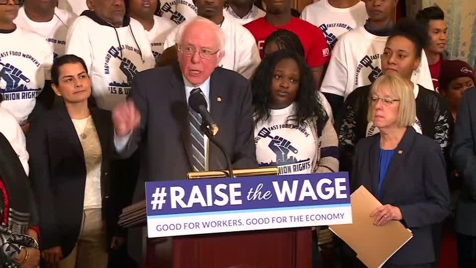 Democrats unveil bill to hike U.S. minimum wage to $15