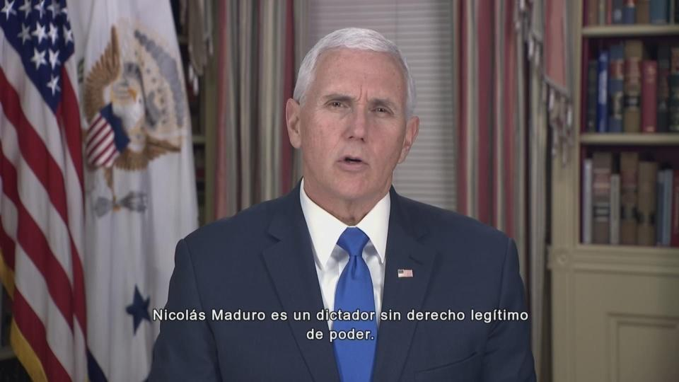 Pence to Venezuelans: 'Maduro is a dictator'