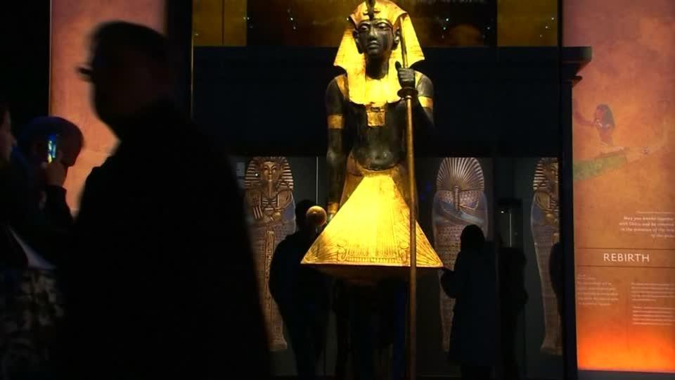 Tutankhamun's tomb treasures on display in Paris