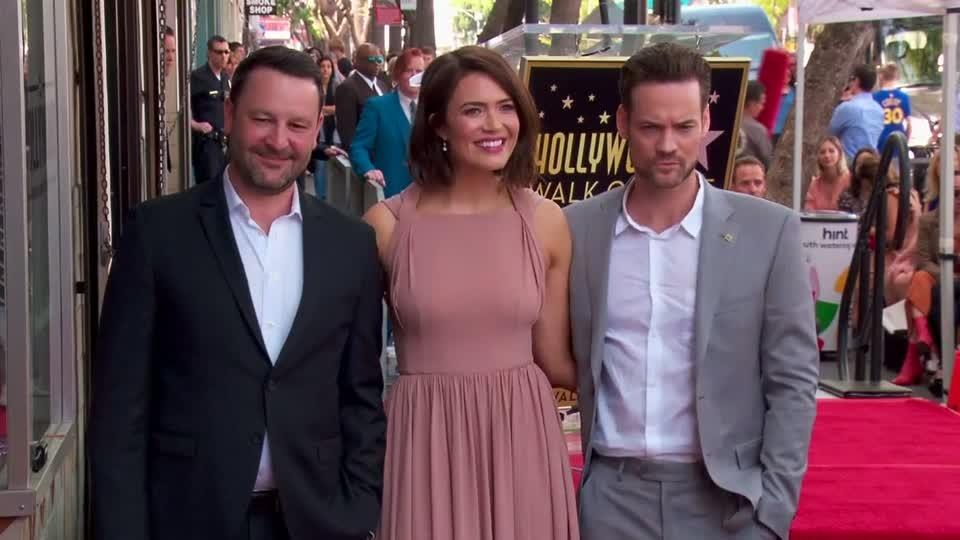 Mandy Moore celebrated with star in Hollywood