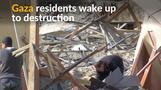Sites of destruction in Gaza following overnight Israeli raids