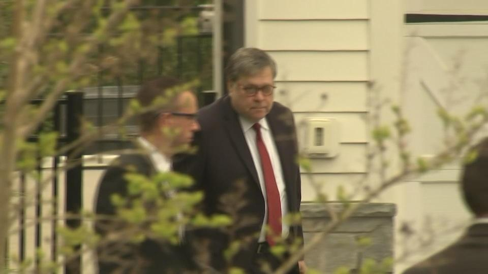 Barr leaves home ahead of Mueller report rollout