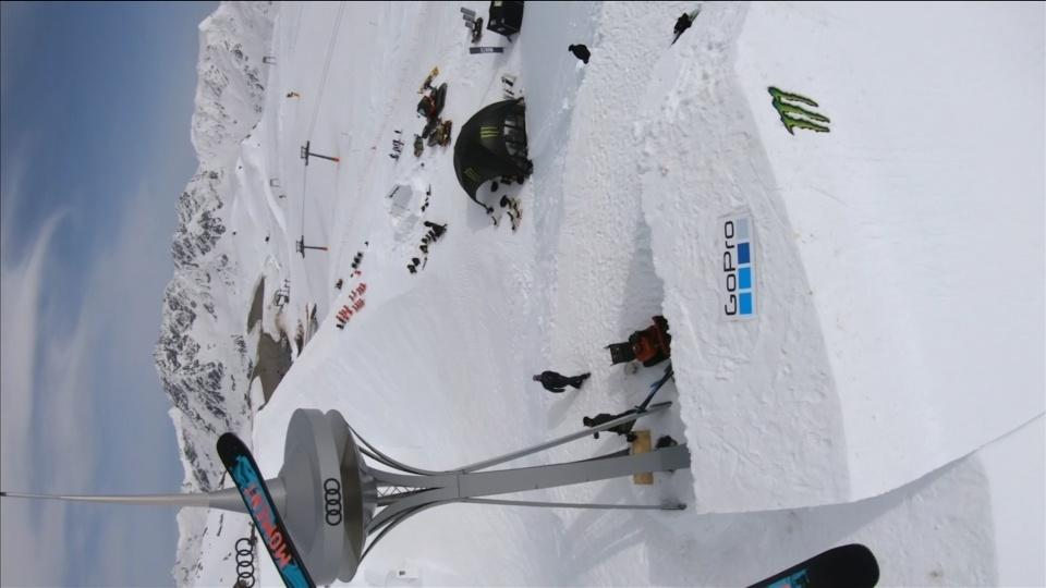 Wise move as skier sets spectacular quarterpipe height world record