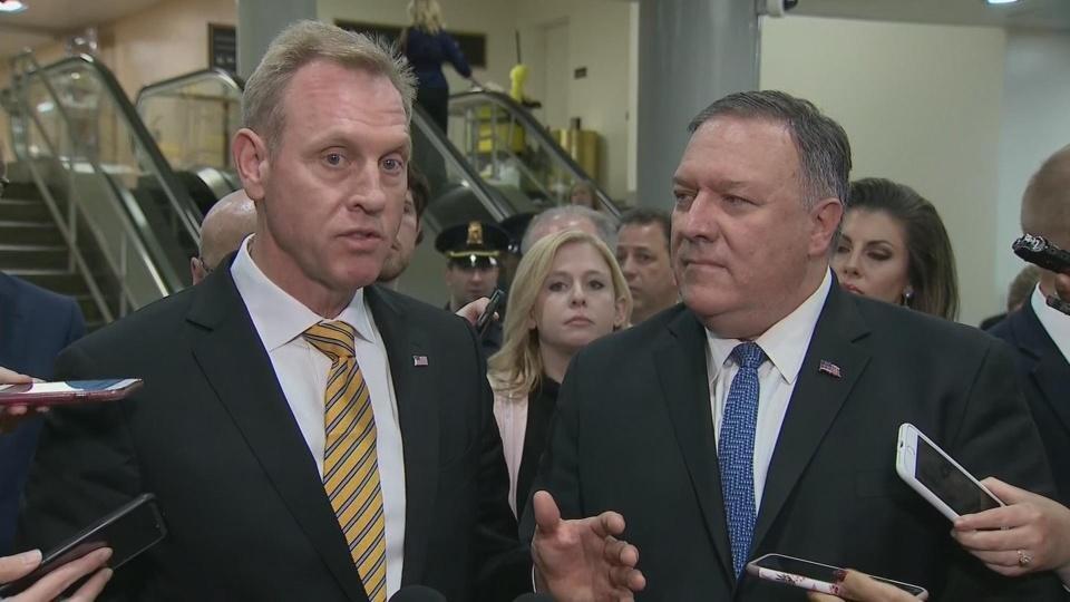 After Iran briefing, Shanahan says U.S. deterred possible attacks