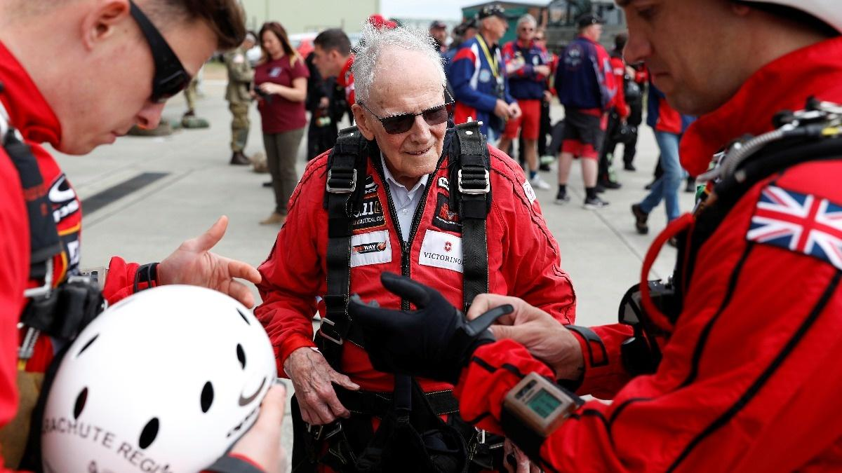 INSIGHT: UK veterans recreate D-Day parachute jump