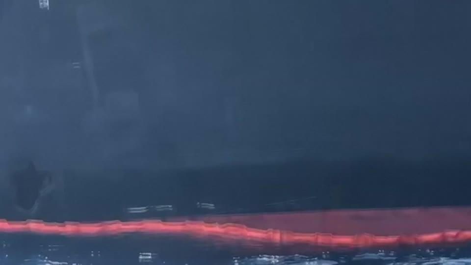 Hole visible in blast-hit tanker moored off UAE coast