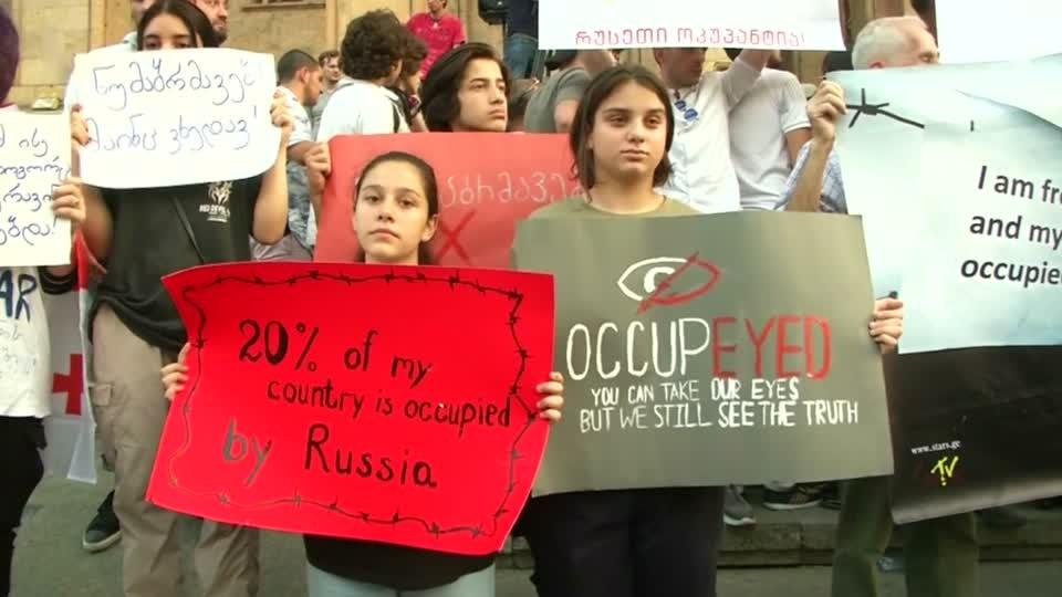"Protesters in Georgia say ""no"" to Russia"