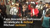 Jackson fans defend singer in Hollywood protests