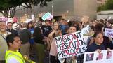 米国で不法移民摘発に反対の声広がる、捜査当局は強硬姿勢(字幕・16日)