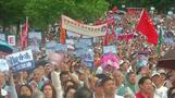 أنصار الحكومة في هونج كونج يتظاهرون للمطالبة بإنهاء العنف
