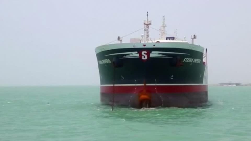 Footage shows seized British Stena Impero tanker in Iran's Bandar Abbas port