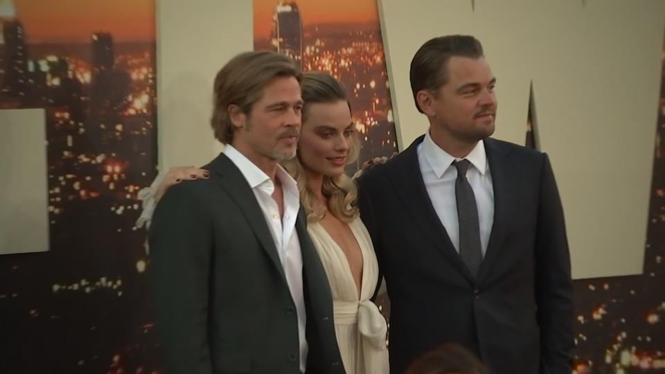 Leonardo DiCaprio and Brad Pitt at 'Once Upon a Time in Hollywood' premiere