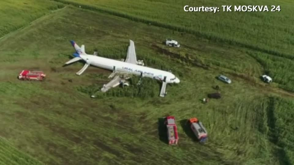 Russian jet makes 'miracle' emergency landing